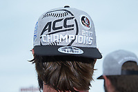 A close-up of the ACC Champions hat worn by a member of the Florida State Seminoles following their win over the North Carolina Tar Heels in the 2017 ACC Baseball Championship Game at Louisville Slugger Field on May 28, 2017 in Louisville, Kentucky. The Seminoles defeated the Tar Heels 7-3. (Brian Westerholt/Four Seam Images)