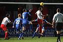 Filipe Morais of Stevenage's header is cleared off the line<br />  - Stevenage v Shrewsbury Town - Sky Bet League 1 - Lamex Stadium, Stevenage - 30th November, 2013<br />  © Kevin Coleman 2013