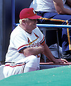 St. Louis Cardinals Whitey Herzog (24)  during a game from his career with the St. Louis Cardinals at Busch Memorial Stadium in  St. Louis, Missouri. Whitey Herzog managed for 18 years with 4 different teams and was inducted to the Baseball Hall of Fame in 2010.