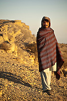 Portrait of an Omani man in the Jebel Ahktar mountains early in the morning