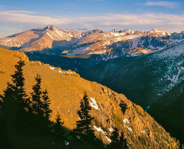 Longs Peak (left) in Rocky Mountain National Park, Colorado.