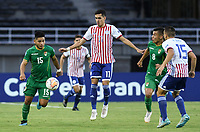 PEREIRA - COLOMBIA, 22-01-2020: Jesus Medina de Paraguay disputa el balón con Rodrigo Cabrera de Bolivia durante partido entre Paraguay y Bolivia por la fecha 2, grupo B, del CONMEBOL Preolímpico Colombia 2020 jugado en el estadio Hernan Ramirez Villegas en Pereira, Colombia. / Jesus Medina of Paraguay fights the ball with Rodrigo Cabrera of Bolivia during the match between Paraguay and Bolivia for the date 2, group B, for the CONMEBOL Pre-Olympic Tournament Colombia 2020 played at Hernan Ramirez Villegas stadium in Pereira, Colombia. Photo: VizzorImage / Julian Medina / Cont