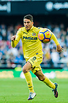 Pablo Fornals of Villarreal CF in action during the La Liga 2017-18 match between Valencia CF and Villarreal CF at Estadio de Mestalla on 23 December 2017 in Valencia, Spain. Photo by Maria Jose Segovia Carmona / Power Sport Images