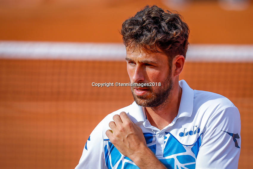 Paris, France, 27 May, 2018, Tennis, French Open, Roland Garros, Robin Haase (NED)<br /> Photo: Henk Koster/tennisimages.com
