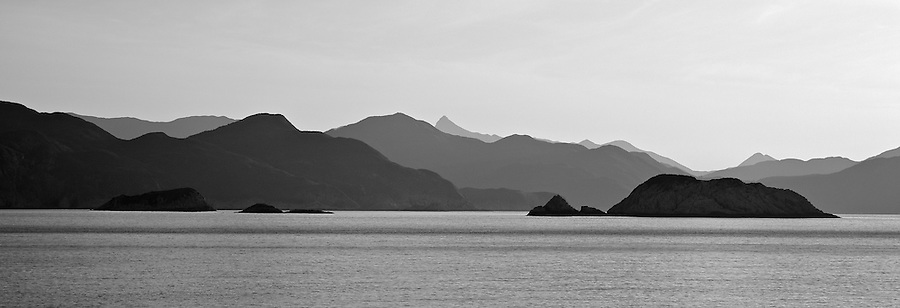 Early Morning Over Port Shelter, Hong Kong. Trio Island In The Fore, Right; Sharp Peak Is Just Visible Centre Rear.
