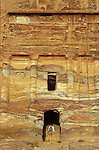 Silk Tomb famous for the myriads of colour of the sandstone. Middle East. Jordan. Petra