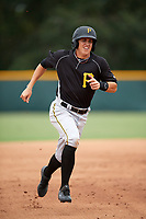 Pittsburgh Pirates Robbie Glendinning (10) running the bases during an Instructional League intrasquad black and gold game on October 3, 2017 at Pirate City in Bradenton, Florida.  (Mike Janes/Four Seam Images)