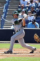 USF Bulls second baseman Luis Llerena #2 during a scrimmage against the New York Yankees at Steinbrenner Field on March 2, 2012 in Tampa, Florida.  New York defeated South Florida 11-0.  (Mike Janes/Four Seam Images)