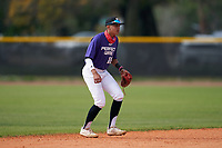 Shortstop Yahir Otero (16) during the Perfect Game National Underclass East Showcase on January 23, 2021 at Baseball City in St. Petersburg, Florida.  (Mike Janes/Four Seam Images)