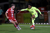 Jayden Sweeney of Leyton Orient and James Tilley of Crawley Town during Crawley Town vs Leyton Orient, Papa John's Trophy Football at The People's Pension Stadium on 5th October 2021