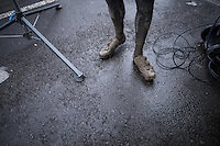 Quinten Hermans' (BEL/U23/Telenet-Fidea) shoes after training<br /> <br /> UCI 2017 Cyclocross World Championships<br /> <br /> january 2017, Bieles/Luxemburg