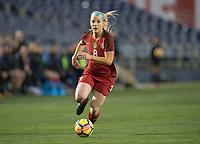 San Diego, Ca - Sunday, January 21, 2018: Julie Ertz during a USWNT 5-1 victory over Denmark at SDCCU Stadium.