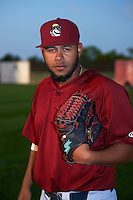 Mahoning Valley Scrappers pitcher Erick Algarin (47) poses for a photo before a game against the Auburn Doubledays on September 4, 2015 at Falcon Park in Auburn, New York.  Auburn defeated Mahoning Valley 5-1.  (Mike Janes/Four Seam Images)