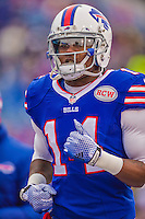 14 December 2014: Buffalo Bills wide receiver Sammy Watkins concludes his pre-game warm ups prior to facing the Green Bay Packers at Ralph Wilson Stadium in Orchard Park, NY. The Bills defeated the Packers 21-13, snapping the Packers' 5-game winning streak and keeping the Bills' 2014 playoff hopes alive. Mandatory Credit: Ed Wolfstein Photo *** RAW (NEF) Image File Available ***