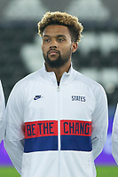 SWANSEA, WALES - NOVEMBER 12: Konrad De la Fuente #11 of the United States starting eleven during a game between Wales and USMNT at Liberty Stadium on November 12, 2020 in Swansea, Wales.