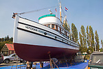 Port Townsend, Boat Haven Marina, purse seiner, Veteran, fishing boat, Port of Port Townsend, Olympic Peninsula, Puget Sound, Washington State, Pacific Northwest, USA,