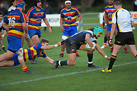 Action from the Wellington premier club rugby Swindale Shield match between Petone and Tawa at Petone Rec in Lower Hutt, New Zealand on Saturday, 29 August 2020. Photo: Dave Lintott / lintottphoto.co.nz