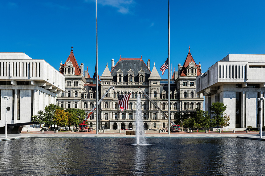 New York State Capitol Building, Albany. New York, USA.