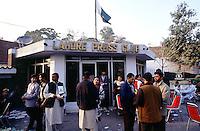 The Lahore-Press-Club. A cultural club for Journalists of Lahore.<br /> 15.2.2001, Lahore/Pakistan<br /> Copyright: Christian-Ditsch.de<br /> [Inhaltsveraendernde Manipulation des Fotos nur nach ausdruecklicher Genehmigung des Fotografen. Vereinbarungen ueber Abtretung von Persoenlichkeitsrechten/Model Release der abgebildeten Person/Personen liegen nicht vor. NO MODEL RELEASE! Nur fuer Redaktionelle Zwecke. Don't publish without copyright Christian-Ditsch.de, Veroeffentlichung nur mit Fotografennennung, sowie gegen Honorar, MwSt. und Beleg. Konto: I N G - D i B a, IBAN DE58500105175400192269, BIC INGDDEFFXXX, Kontakt: post@christian-ditsch.de<br /> Bei der Bearbeitung der Dateiinformationen darf die Urheberkennzeichnung in den EXIF- und  IPTC-Daten nicht entfernt werden, diese sind in digitalen Medien nach §95c UrhG rechtlich geschuetzt. Der Urhebervermerk wird gemaess §13 UrhG verlangt.]