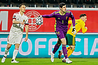 24th March 2021; Leuven, Belgium;  Thibaut Courtois goalkeeper of Belgium during the World Cup Qatar 2022 Qualifiers Match between Belgium and Wales on March 24, 2021 in Leuven, Belgium