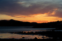 Sunset over Screel from Rockcliffe, Galloway<br /> <br /> Copyright www.scottishhorizons.co.uk/Keith Fergus 2011 All Rights Reserved