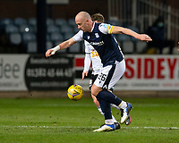 16th March 2021; Dens Park, Dundee, Scotland; Scottish Championship Football, Dundee FC versus Ayr United; Charlie Adam of Dundee takes on Luke McCowan of Ayr United