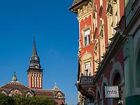 Korzo mit  Rathaus, Subotica, Vojvodina, Serbien, Europa<br /> Korzo and city hall, Subotica, Vojvodina, Serbia, Europe