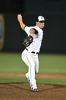 South Bend Silver Hawks pitcher Will Locante (6) delivers a pitch during a game against the Dayton Dragons on August 20, 2014 at Four Winds Field in South Bend, Indiana.  Dayton defeated South Bend 5-3.  (Mike Janes/Four Seam Images)
