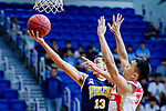 Joe Glen Matthew #13 of Winling Basketball Club goes to the basket against Wu Siu Chi #7of Nam Ching Basketball Team during the Hong Kong Basketball League game between Nam Ching vs Winling at Southorn Stadium on May 11, 2018 in Hong Kong. Photo by Yu Chun Christopher Wong / Power Sport Images