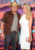 NASHVILLE, TN, USA - JUNE 04: Jason Aldean, Brittany Kerr at the 2014 CMT Music Awards held at the Bridgestone Arena on June 4, 2014 in Nashville, Tennessee, United States. (Photo by Celebrity Monitor)