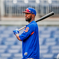 22 September 2018: New York Mets outfielder Austin Jackson awaits his turn in the batting cage prior to a game against the Washington Nationals at Nationals Park in Washington, DC. The Nationals shut out the Mets 6-0 in the 3rd game of their 4-game series. Mandatory Credit: Ed Wolfstein Photo *** RAW (NEF) Image File Available ***