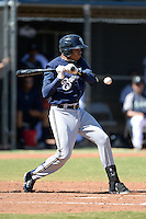 Milwaukee Brewers shortstop Gilbert Lara (70) during an Instructional League game against the Seattle Mariners on October 4, 2014 at Peoria Stadium Training Complex in Peoria, Arizona.  (Mike Janes/Four Seam Images)