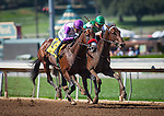 """September 26, 2015: Nyquist with Mario Gutierrez up win the Breeders' Cup """"Win and You're In"""" FrontRunner Stakes at Santa Anita Park in Arcadia, California. Zoe Metz/ESW/CSM"""