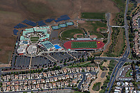 aerial photograph of American Canyon High School, American Canyon,  Napa County, California