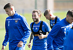 St Johnstone Training….13.09.19     McDiarmid Park, Perth<br />Stevie May pictured enjoying training this morning ahead of tomorrows game at Aberdeen<br />Picture by Graeme Hart.<br />Copyright Perthshire Picture Agency<br />Tel: 01738 623350  Mobile: 07990 594431