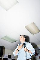 Texas senator and Republican presidential candidate Ted Cruz speaks to a crowd at the kick-off event at his New Hampshire campaign headquarters in Manchester, New Hampshire.