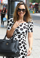 Myleene Klass at the Global Radio Studios, Leicester Square, London on 9th September 2020<br /> CAP/ROS<br /> ©ROS/Capital Pictures