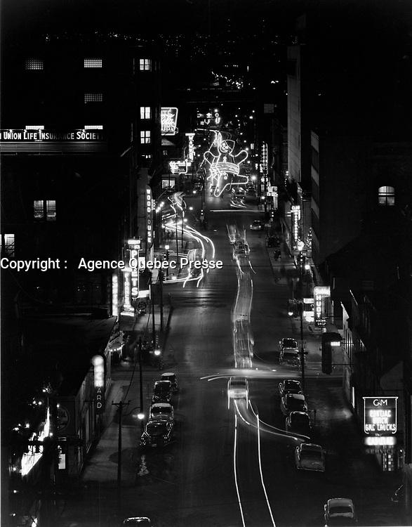 Carnaval de Quebec, <br /> <br /> 6 fev 1956<br /> <br /> PHOTO : Agence Quebec Presse