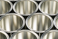 rows of cans to store paint and varnish