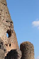"""The """"Big Tower"""", among the ancient Roman remains in Villa Gordiani. An artistic view (Rome, 2020).<br /> <br /> Il """"Torrone"""", tra le antiche rovine Romane di Villa Gordiani. Una vista artistica (Roma, 2020)."""