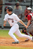 UMass Alex Fischer #9 during a game vs Indiana Hoosiers at Lake Myrtle Main Field in Auburndale, Florida;  March 16, 2011.  Indiana defeated UMass 11-10.  Photo By Mike Janes/Four Seam Images
