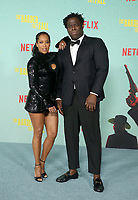 LOS ANGELES, CA - OCTOBER 13: Jeymes Samuel and Regina King, at the Special Screening Of The Harder They Fall at The Shrine in Los Angeles, California on October 13, 2021. Credit: Faye Sadou/MediaPunch