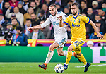 Miralem Pjanic of Juventus (R) fights for the ball with Daniel Carvajal Ramos of Real Madrid (L) during the UEFA Champions League 2017-18 quarter-finals (2nd leg) match between Real Madrid and Juventus at Estadio Santiago Bernabeu on 11 April 2018 in Madrid, Spain. Photo by Diego Souto / Power Sport Images
