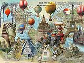 ,LANDSCAPES, LANDSCHAFTEN, PAISAJES, LornaFinchley, paintings+++++,USHCFIN0131,#L#, EVERYDAY ,vintage,stamps,puzzle,puzzles