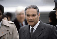 27 Jan 1981 - File Photo - <br />  Secretary of State Alexander M. Haig Jr., waits to welcome the former hostages home after their release from Iran. (Released to Public)<br /> Location: ANDREWS AIR FORCE BASE, MARYLAND (MD) UNITED STATES OF AMERICA (USA)<br /> <br /> DoD photo by: MSGT. DEAL TONEY Date Shot: 27 Jan 1981