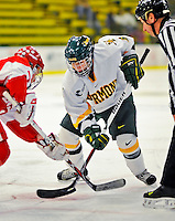 9 February 2008: University of Vermont Catamounts' forward Sarah Ellins, a Freshman from Greeley, CO, in action against the Boston University Terriers at Gutterson Fieldhouse in Burlington, Vermont. The Terriers shut out the Catamounts 2-0 in the Hockey East matchup...Mandatory Photo Credit: Ed Wolfstein Photo
