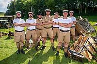 BNPS.co.uk (01202) 558833. <br /> Pic: MaxWillcock/BNPS<br /> <br /> Pictured: Royal Navy Beachhead Commando Re-enactors. <br /> <br /> The Chalke Valley History Festival, the largest festival dedicated entirely to history in the UK, is taking place in Broadchalke near Salisbury, Wiltshire, from Wednesday 23 June - Sunday June 2021.<br /> <br /> This year, for the festival's tenth anniversary, the organisers are introducing a new Outdoor Programme that includes two outdoor stages, a revised Living History through-the-ages, and vintage fairground.