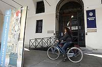 L'entrata dell'Armeria Reale a Torino.<br /> The entrance of the Armeria Reale (Royal Armoury) museum in Turin.<br /> UPDATE IMAGES PRESS/Riccardo De Luca