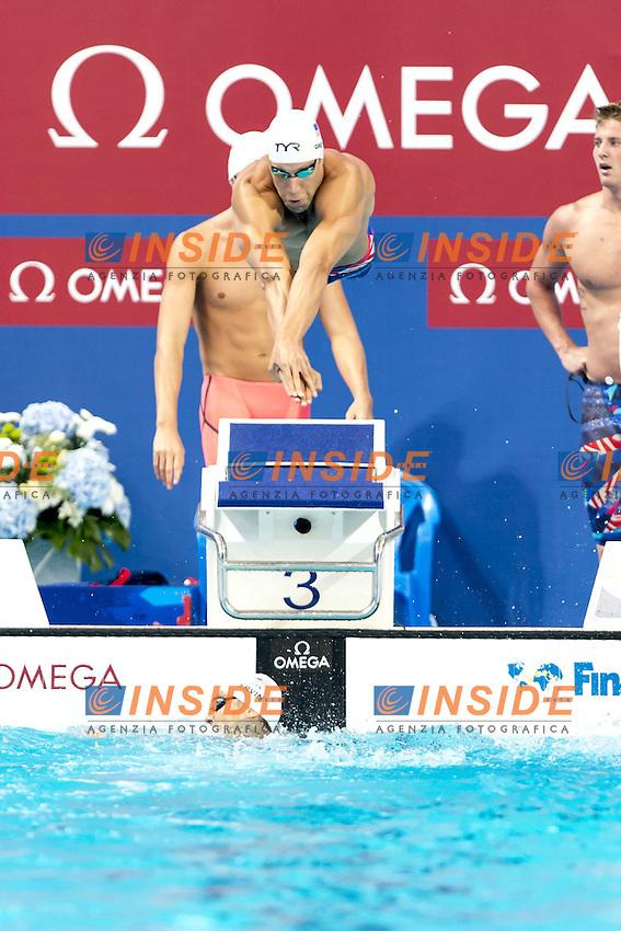 GREVERS Matt USA 4x100 freestyle men relay<br /> Swimming Nuoto Kazan Arena<br /> Day10 02/08/2015 Morning Heats<br /> XVI FINA World Championships Aquatics Swimming<br /> Kazan Tatarstan RUS July 24 - Aug. 9 2015 <br /> Photo G.Scala/Deepbluemedia/Insidefoto