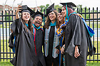 May 22, 2021;  The Keough School of Global Affairs Graduate Ceremony at the Frank Eck Baseball Stadium. (Photo by Barbara Johnston/University of Notre Dame)